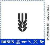 agriculture icon flat. simple... | Shutterstock . vector #622224617