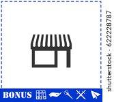 showcase icon flat. simple...