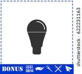 bulb icon flat. simple...