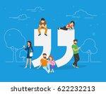 testimonials symbol concept...   Shutterstock . vector #622232213