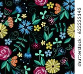Embroidery Seamless Pattern...