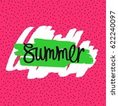 simple and fun summer card.... | Shutterstock .eps vector #622240097