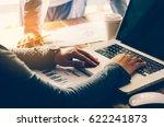 business woman working on... | Shutterstock . vector #622241873