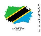 tanzania union day  26 april... | Shutterstock .eps vector #622245623