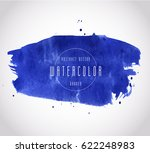 watercolor colorful dark blue... | Shutterstock .eps vector #622248983
