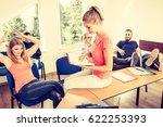 highschool students having fun... | Shutterstock . vector #622253393