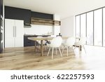 side view of a kitchen interior ... | Shutterstock . vector #622257593
