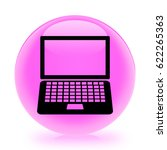laptop icon. internet button.3d ... | Shutterstock . vector #622265363