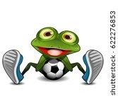 illustration green frog sitting ... | Shutterstock .eps vector #622276853