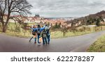 back view of group of people... | Shutterstock . vector #622278287