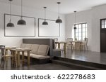 corner of a cafe with two large ... | Shutterstock . vector #622278683
