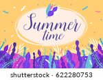 summertime. colorful card with... | Shutterstock .eps vector #622280753