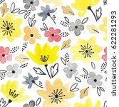 watercolor seamless pattern... | Shutterstock . vector #622281293