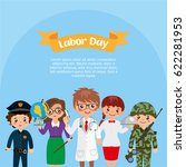 happy labor day greeting card.... | Shutterstock .eps vector #622281953