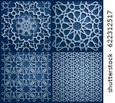 set of islamic oriental... | Shutterstock .eps vector #622312517