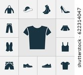 dress icons set. collection of...