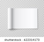 rolled landscape magazine with...   Shutterstock .eps vector #622314173