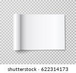 mockup of blank open landscape... | Shutterstock .eps vector #622314173
