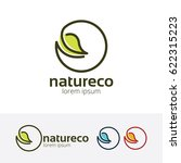 nature eco  vector logo template | Shutterstock .eps vector #622315223