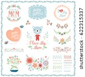 mother's day set with... | Shutterstock .eps vector #622315337