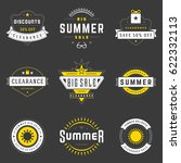 summer season sale badges and...   Shutterstock .eps vector #622332113