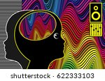 music therapy and autism....   Shutterstock . vector #622333103