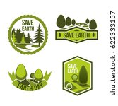 earth day and save earth vector ... | Shutterstock .eps vector #622333157