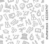 science seamless pattern of... | Shutterstock .eps vector #622334747