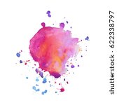 abstract hand drawn watercolor... | Shutterstock .eps vector #622338797