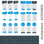 set of pricing table design... | Shutterstock .eps vector #622344833