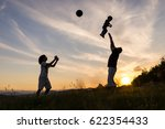 silhouette children with