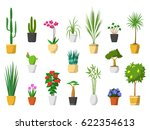 big set of indoor house plants... | Shutterstock .eps vector #622354613