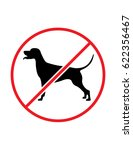 no dogs allowed vector symbol | Shutterstock .eps vector #622356467