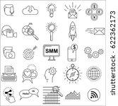 social media marketing icons... | Shutterstock .eps vector #622362173