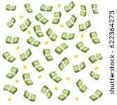 concept of big money. falling... | Shutterstock .eps vector #622364273