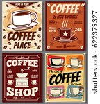 cafe and restaurant retro... | Shutterstock .eps vector #622379327