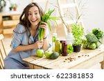 portrait of a beautiful woman... | Shutterstock . vector #622381853