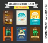 sale and discount offers flyers ... | Shutterstock .eps vector #622385843