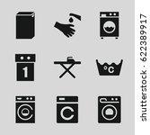 Washing Icons Set. Set Of 9...