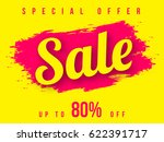 sale banner template design ... | Shutterstock .eps vector #622391717