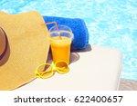 swimming pool  orange juice ... | Shutterstock . vector #622400657