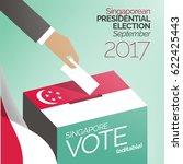 singapore presidential... | Shutterstock .eps vector #622425443