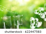 test tube and drop of water... | Shutterstock . vector #622447583