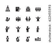 meeting and people icons set... | Shutterstock .eps vector #622455593
