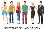handsome young guys men with... | Shutterstock . vector #622457267
