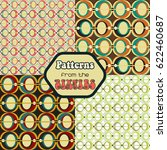 retro patterns from the sixties | Shutterstock .eps vector #622460687