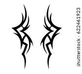 tribal tattoo art designs.... | Shutterstock .eps vector #622461923