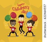 happy children day | Shutterstock .eps vector #622464557