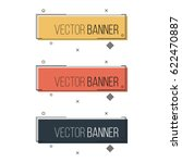 abstract rectangular banner set.... | Shutterstock .eps vector #622470887