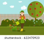 farmer gardener woman with...